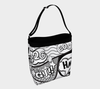 Comic Speech Bubbles Stretchy Day Tote in Black & White