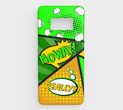 Bubblelingo Samsung Galaxy S8 Phone Case - Comic Speech Bubbles - Green