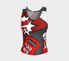 Fitted Tank Top - Comic Speech Bubbles - Red - Regular Fit