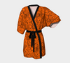 Chiffon Kimono Robe - Emoji & Speech Bubble Comic Panels - Orange