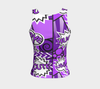Bubblelingo Fitted Tank Top - Comic Speech Bubbles - Purple Regular Length