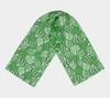 Christmas Ornaments Green Chiffon Scarf