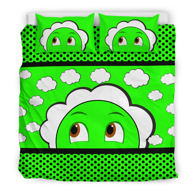 Bubblelingo Dreamer Speech Bubble Green Cloud Duvet Set