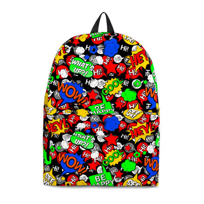 Multicolor Comic Backpack