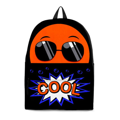 """Cool"" Emoji Black Backpack"