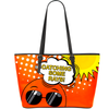 Cool Emoji Catching some rays! Vegan Leather Tote