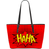 HAHA Splash Bubble Print Vegan Leather Tote