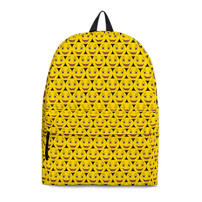 Happy Face Emoji Yellow Backpack