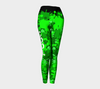 Bubblelingo Performance Fit Classic Leggings Cool Word & Emoji with Splash Paint Green