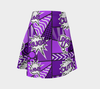 Bubblelingo Flare Skirt - Comic Speech Bubbles - Purple