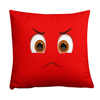"""Bug Off"" Red Throw Pillow front"