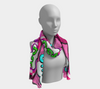 Comic Print Long Chiffon Scarf in Pink