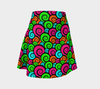 Bubblelingo Flare Skirt - Multicolored Swirl Pattern
