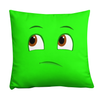 Bubblelingo Thinking Emoji in green square pillow