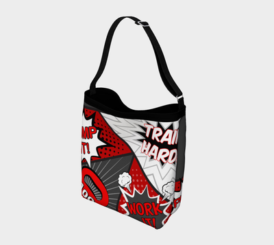 Bubblelingo Stretchy Day Tote Bag - Comic - Red & Gray