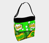 Comic Speech Bubbles Stretchy Day Tote in Green