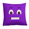 Bubblelingo Grinder Purple Throw Pillow front view