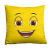 Bubblelingo Happy Face Emoji Square Pillow
