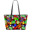 """Hi"" Multicolor comic Chat Bubble Vegan Tote Bag"