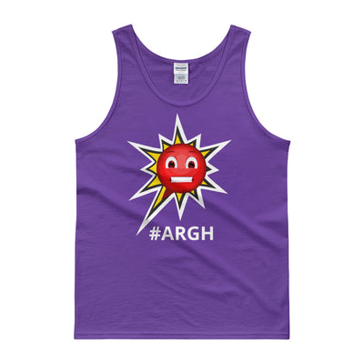 Classic Cotton Tank Top - Frustrated ARGH Purple