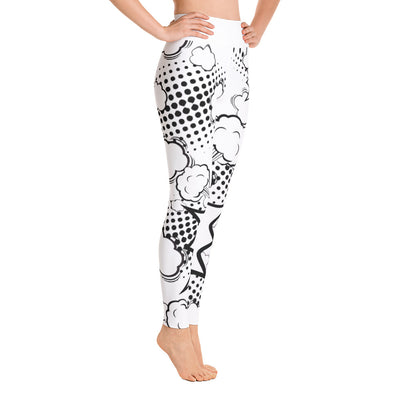 Black on White Blast Yoga Leggings