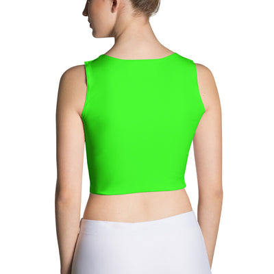 Neon Green Fitted Crop Top
