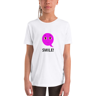 Bubblelingo Smiley Speech Bubble Girls' T-Shirt