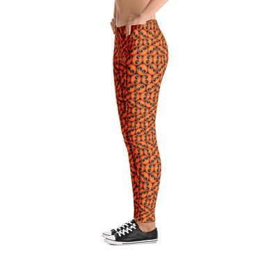 Bubblelingo Cool Dude Emoji Orange Classic Leggings side view