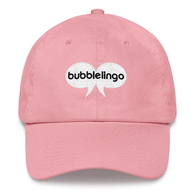 Embroidered Cap Pink Bubblelingo Logo