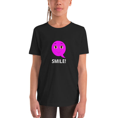Bubblelingo  Smiley Emoji  Girls' Sleeve T-Shirt Black