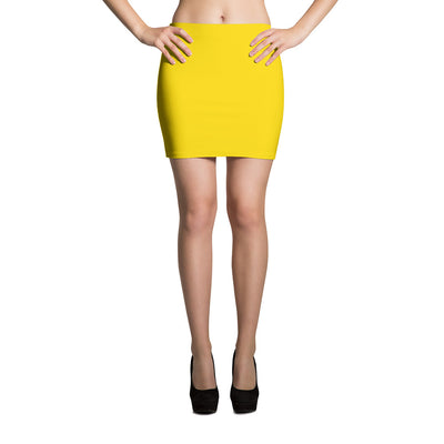Fitted Mini Skirt - Yellow