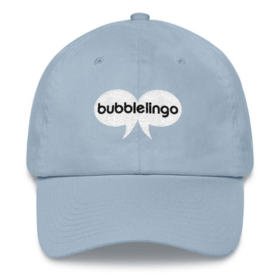 Embroidered Cap Light Blue Bubblelingo Logo