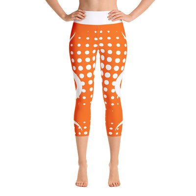 Orange Blast Yoga Capri Leggings