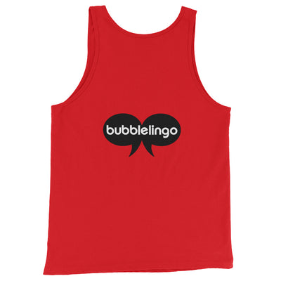 Tank Top with Silly Emoji red