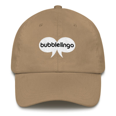 Embroidered Cap Dad  Khaki Bubblelingo Logo