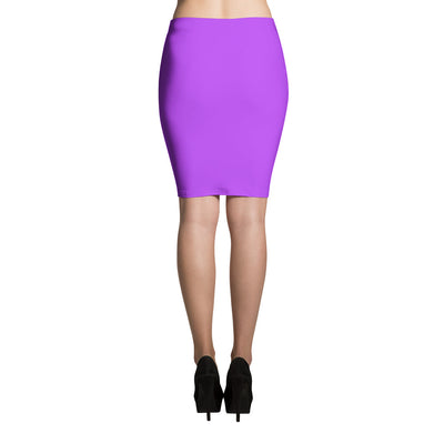Fitted Pencil Skirt - Purple