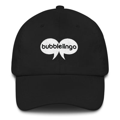 Embroidered Cap Black Bubblelingo Logo