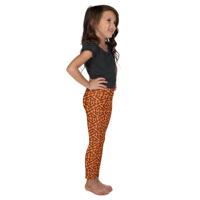 Bubblelingo Cool Dude Orange Little Girls' Leggings side view