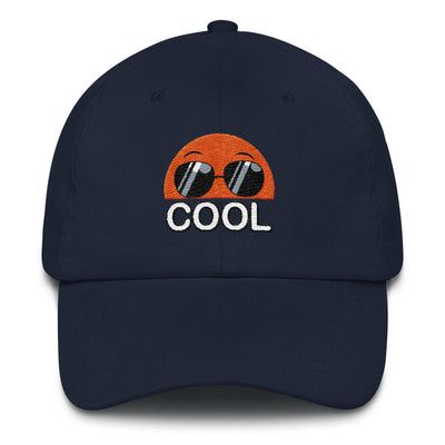 Embroidered Navy Cap Bubblelingo Cool Dude Speech Bubble
