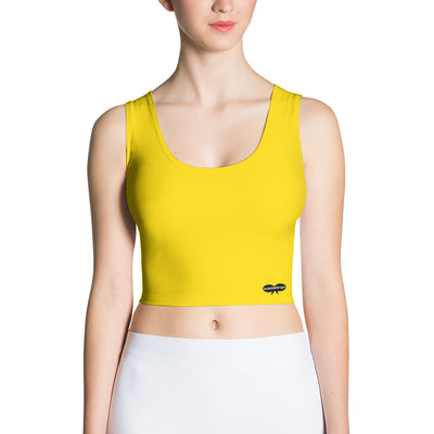 Yellow Fitted Tank Crop Top
