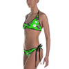 String Bikini - Emoji Comic - Green Reversible to solid