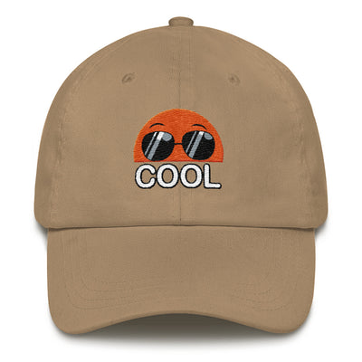Embroidered  Khaki Cap  Bubblelingo Cool Dude Speech Bubble