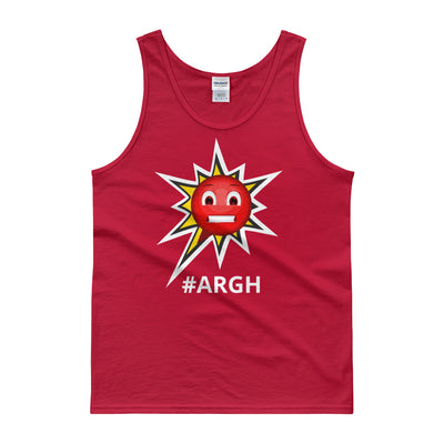 Classic Cotton Tank Top - Frustrated ARGH Red