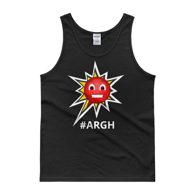 Classic Cotton Tank Top - Frustrated ARGH Black