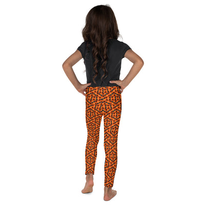 Bubblelingo Cool Dude Orange  Little Girls' Leggings back