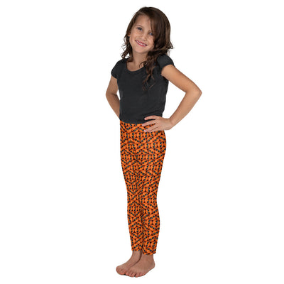 Bubblelingo Cool Dude Orange Litte Girls' Leggings side view