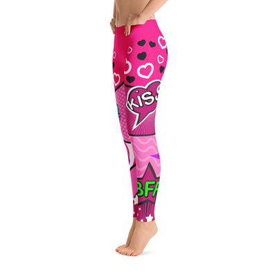 Bubblelingo Classic Leggings - Pink Comic Speech Bubbles