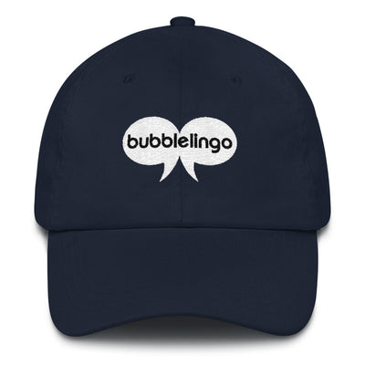 Embroidered Cap  Navy Bubblelingo Logo