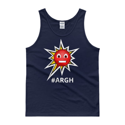 Classic Cotton Tank Top - Frustrated ARGH Navy
