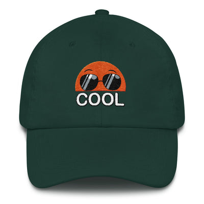 Embroidered Spruce Green Cap Bubblelingo Cool Dude Speech Bubble